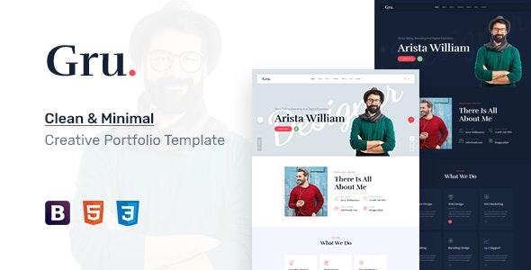 Gru - One Page Personal Portfolio HTML5 Template - Portfolio Creative