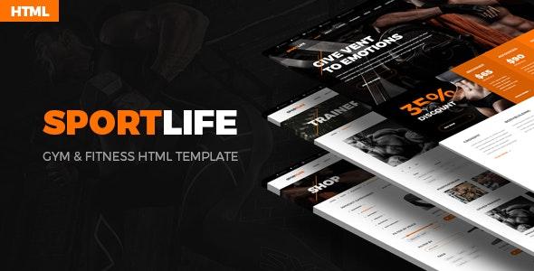 SportLife – Sport, Gym & Fitness HTML&PSD Template - Health & Beauty Retail