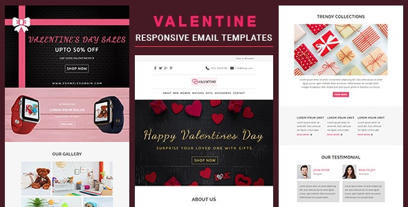 Valentine - Responsive Email Template With Online StampReady & Mailchimp Editors - Newsletters Email Templates