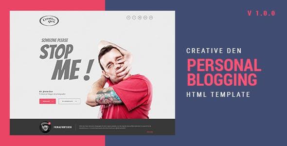Bloggers Den | Personal Blog HTML Template