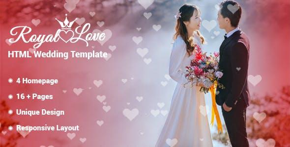 Royal Love - HTML Wedding Template by CN-InfoTech