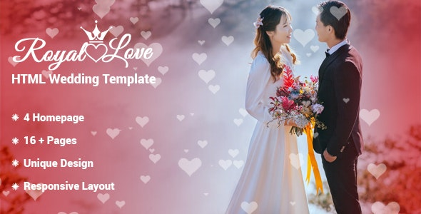 Royal Love - HTML Wedding Template - Wedding Site Templates