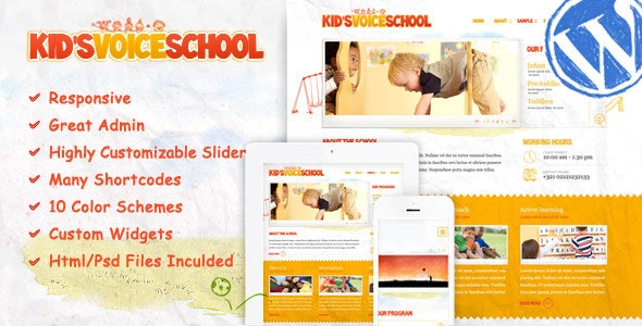 Kids Voice School - Education WordPress Theme - Education WordPress