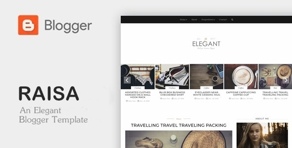Raisa - An Elegant Responsive Blogger Theme - Blogger Blogging