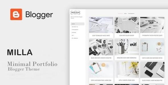 Milla - Minimal Portfolio Blogger Template - Blogger Blogging