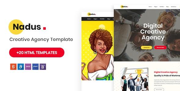 Nadus - Creative Agency HTML5 Template - Portfolio Creative