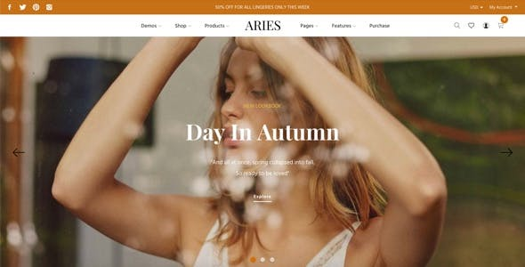 ARIES - Everything for a Shopify Fashion theme