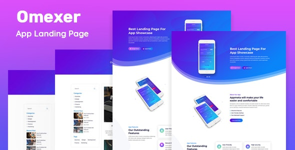 Omexer - App Landing Page - Software Technology