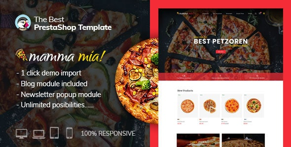 Pizza - Food Cake Prestashop 1.7.6 Theme - Miscellaneous PrestaShop