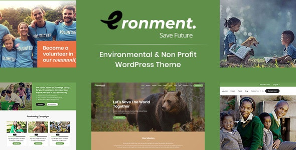 Eronment - Environmental WordPress theme - Environmental Nonprofit