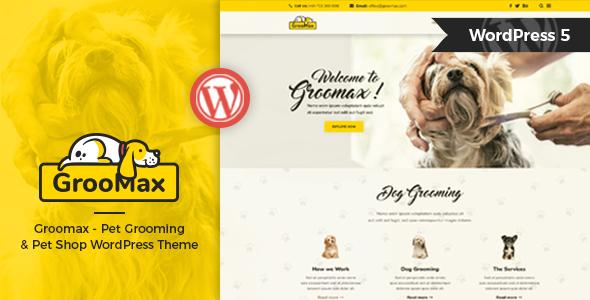 Groomax - Pet Grooming & Shop WordPress Theme - Corporate WordPress