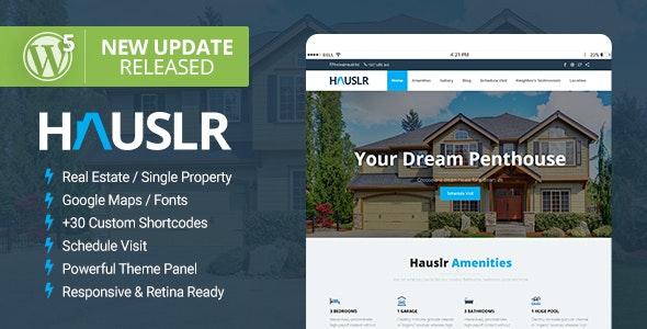 Hauslr - Single Property WordPress Theme - Real Estate WordPress