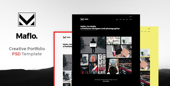 Maflo - Creative PSD Portfolio - Portfolio Creative