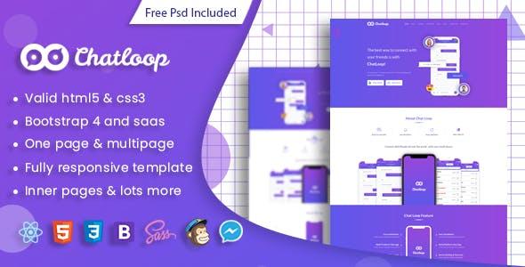 Chatloop - React App Landing Page