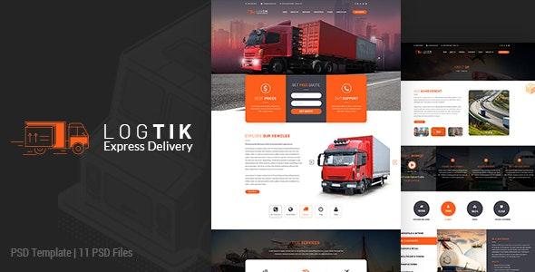 Logtik | Logistics PSD - Miscellaneous Photoshop