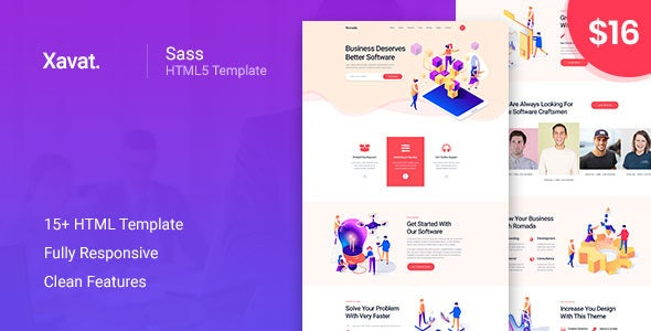 Xavat - Startup Agency and SaaS Business Template - Software Technology