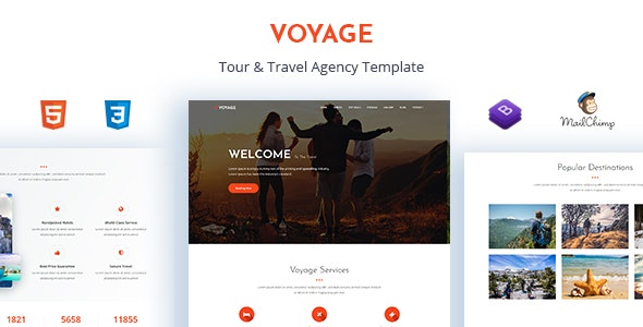 Voyage - Tour & Travel Agency Template - Travel Retail