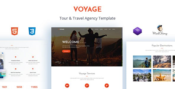 Voyage - Tour & Travel Agency Template