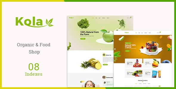 Kola - Organic & Food WooCommerce WordPress Theme - WooCommerce eCommerce