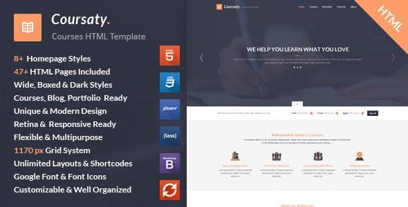 Coursaty - Courses HTML Template