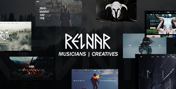 Reinar - A Nordic Inspired Music and Creative WordPress Theme - Music and Bands Entertainment