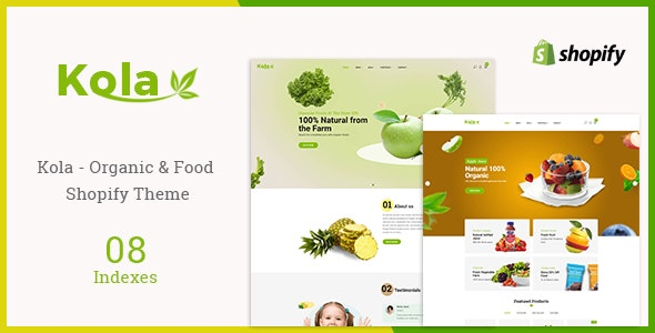 Kola - Organic & Food Shopify Theme - Health & Beauty Shopify