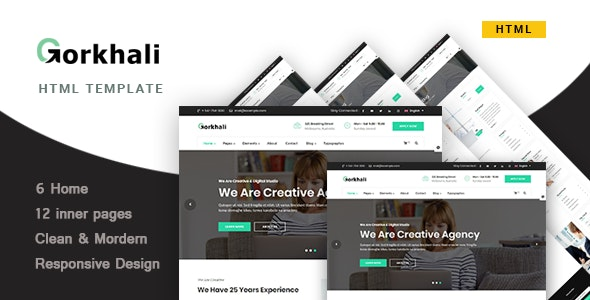 Gorkhali | Multi-Purpose Business Template - Corporate Site Templates