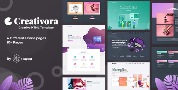 Creativora - Creative Template For Agency And Portfolio - Creative Site Templates