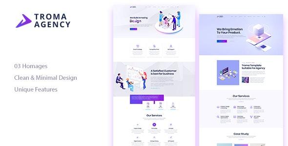 Troma - Creative  Agency HTML Template - Creative Site Templates