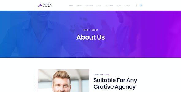 Troma - Creative  Agency HTML Template