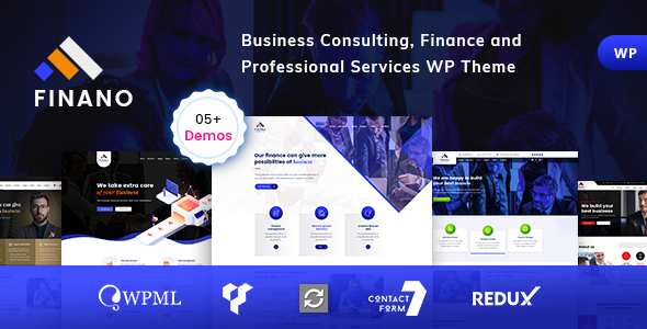 Finano - Consulting Finance WordPress - Business Corporate