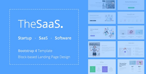TheSaaS - Responsive Bootstrap SaaS, Startup & WebApp Template by TheThemeio