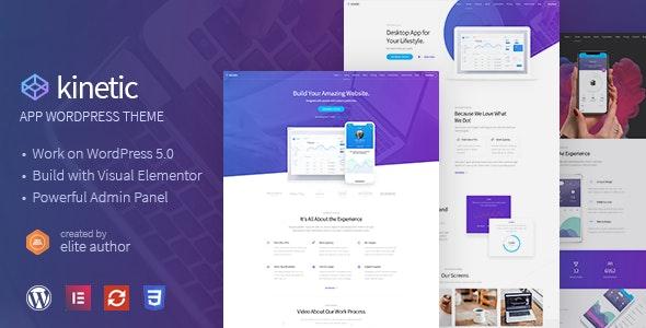 Kinetic - Desktop, Mobile & Product App WordPress Theme - Marketing Corporate