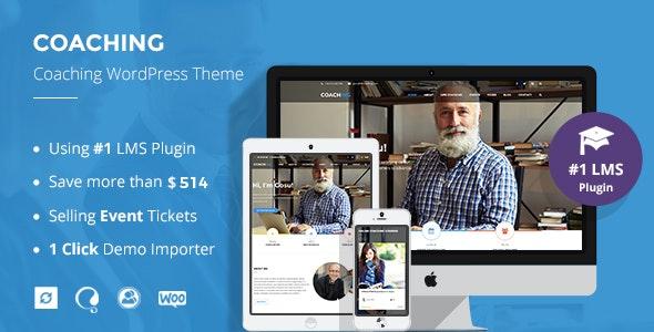 Speaker and Life Coach WordPress Theme | Coaching WP - Education WordPress