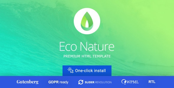 Eco Nature - Environment & Ecology WordPress Theme - Environmental Nonprofit