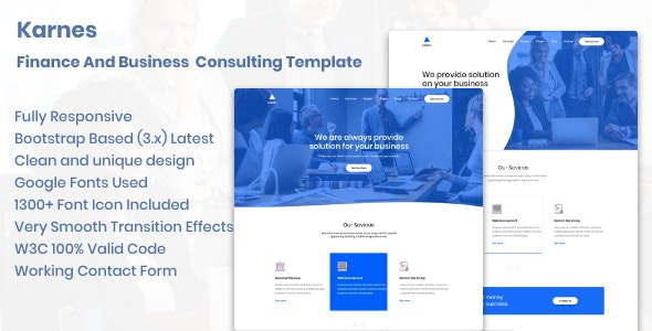 Karnes - Finance And Business Consulting Template - Corporate Site Templates