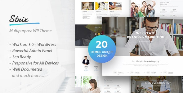 Strix - Multipurpose Business & Agency WordPress Theme - Business Corporate