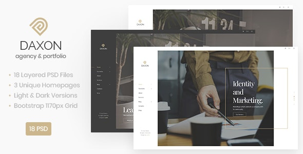 Daxon - Agency / Portfolio PSD Template - Corporate Photoshop