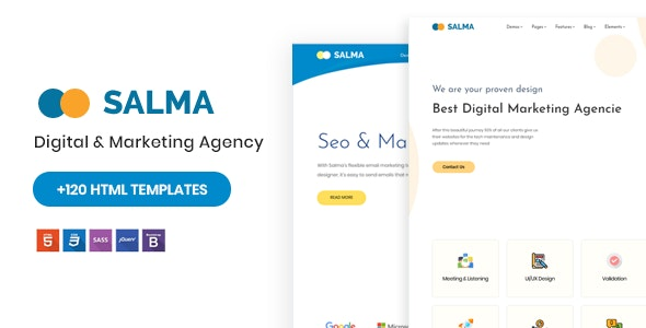 Salma - SEO Marketing HTML Template - Marketing Corporate