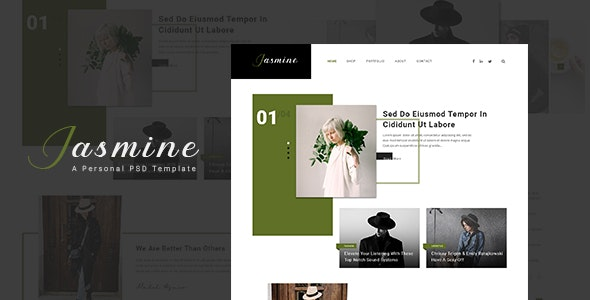 Jasmine - Ultimate Personal Blog PSD Template - Personal Photoshop
