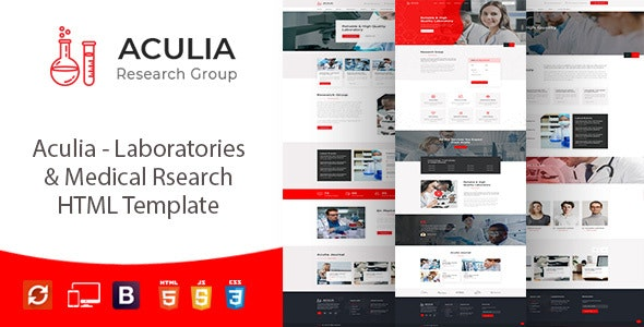 Aculia | Laboratory & Research HTML Template - Business Corporate