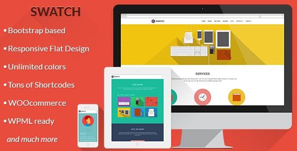 Swatch - Flat Responsive Multi-Purpose WP Theme - Business Corporate