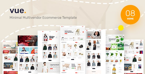 Vue - Clean, Minimal eCommerce PSD Template - Shopping Retail