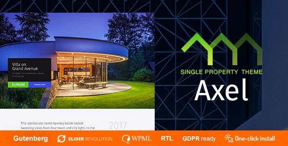 Axel - Single Property Real Estate Theme - Real Estate WordPress