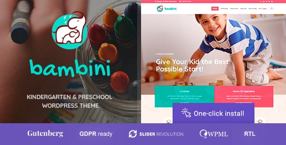 Bambini - Kindergarten & Pre-School Theme by cmsmasters
