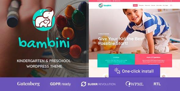 Bambini - Kindergarten & Pre-School Theme