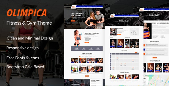 Olimpica - Gym, Crossfit and Fitness PSD Template - Health & Beauty Retail