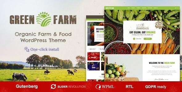 Green Farm - Organic Food WordPress Theme - Food Retail