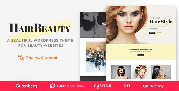 Hair Beauty - Barber and Stylist WordPress Theme - Health & Beauty Retail