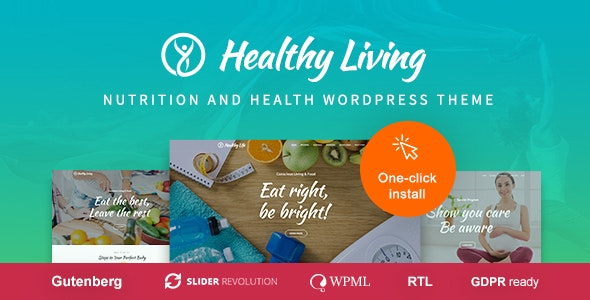 Healthy Living - Nutrition and Wellness WordPress Theme - Health & Beauty Retail